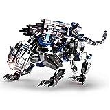Taoke Super Schwieriger Mechanische Polizeihund 3D-Metall-Spielzeug for Erwachsene Puzzles Model Kits, Edelstahl Assembled Aufbau-Spielzeug (366 Stück, Farbe) 8bayfa