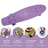 Godya Planche à roulettes pour débutants Mini Cruiser Skateboard rétro pour Enfants Garçons Jeunes débutants