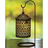 Dawhud Direct Decorative Hanging Metal Lantern with LED Light and Stand