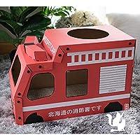 Eonpet車猫スクラッチボードモデル猫ボックス爪段ボール紙猫家猫のおもちゃ (消防車)