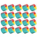 20 Piezas Anillo de Parada de caña de Pescar 3 Colores Poste Antideslizante círculo Goma Silicona Aparejos de Pesca S Equipo de Pesca Informal