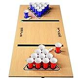 Premium Beer Pong Set · Stabile Becher und Bälle · Aufkleber für Spielfeld · 16 oz American...
