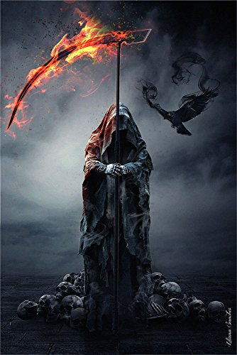 Liliana Sanches - Reapers Raven - Fantasy Gothic Poster Plakat Druck - Größe cm