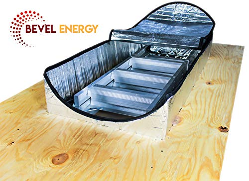 """Premium Energy Saving Attic Door Insulation Stairway Cover R-15.5 Stair Ladder Opening Attic Tent with Easy Access Zipper 25"""" x 54"""" x 11"""""""