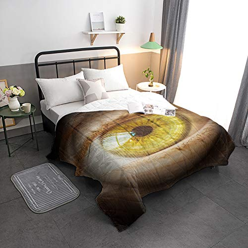 Buy Bargain Advancey Reversible Lightweight Bedspread Coverlet Artistic Eye with Wood Grain Backgrou...