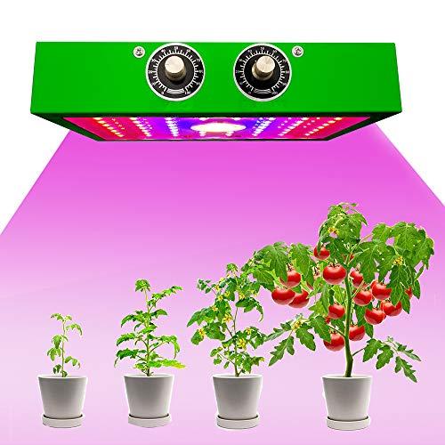 XUNMAIFEIE D'intérieur 1200W Spectre Complet Lampe de Plante avec Variateur Veg/Bloom Canal, Dimmable Lampe Croissance de LED pour Indoor Grow Box, Hydroponique Plante Semis Plante, Green