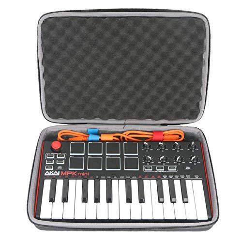 co2CREA Hart reise schutzhülle Etui tasche für Akai Professional MPK Mini MKII/MPK Mini Play USB MIDI Keyboard Controller & Pad Controller (Nur Hülle)