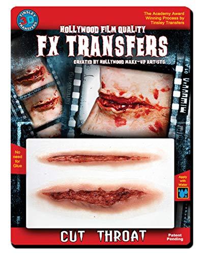 Horror-Shop 3D Larynx Cut de Tatouage de Transfert d'effets