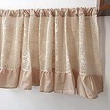 Media cortina,cortina de cocina con volantes,decoración moderna, cortina pequeña a prueba de polvo, para restaurante/cafetería/puerta de armario/chimenea/cortina corta/1pcs
