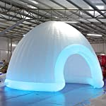 SAYOK Commercial Inflatable Marquee Dome Tent with Air Blower, LED Inflatable Igloo Dome Event Tent for Wedding Party…