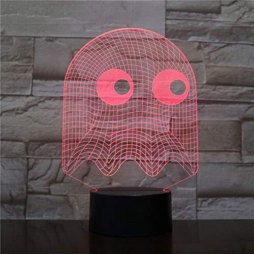 Spiel PAC MAN Tisch 3D Tischlampe Kinder Spielzeug Geschenk Schlafzimmer Dekoration Illusion Kind Kinder Baby Kit Blinky Inky Clyde Ghost PAC MAN Nachtlicht LED