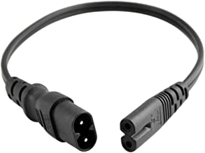 Tekit (3ft/1m) C7 to C8 USA with 18/2 SPT-2 Extension Power Cord, IEC 60320 C8 Plug to C7 Receptacle Male to Female Extens...