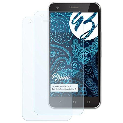 Bruni Schutzfolie kompatibel mit Vodafone Smart Ultra 6 Folie, glasklare Bildschirmschutzfolie (2X)