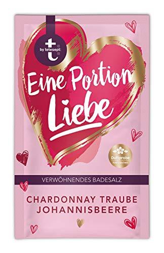 t: by tetesept Badezusatz Eine Portion Liebe - Hauchfeine Puderkristalle mit Champagnerbeere und Johannisbeere - Bade-Geschenk für die Sinne - 10er Pack (10 x 60 g)