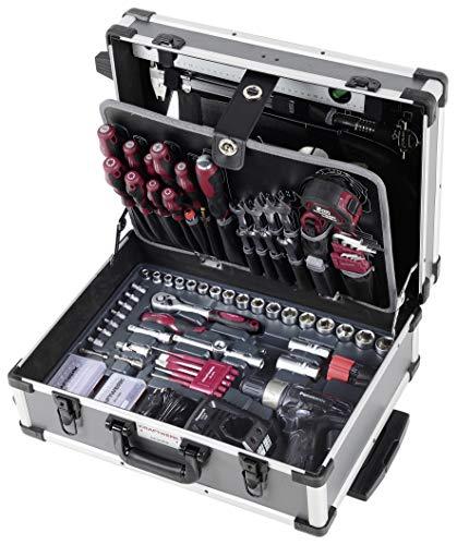 """Preisvergleich Produktbild B128 Werkzeugkoffer mit Bohrer / Akkuschrauber Panasonic,  Trolley,  1 / 4"""" + 3 / 8"""",  163 Teile"""
