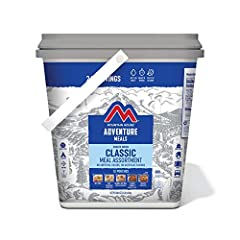 DELICIOUS MEAL ASSORTMENT! Savor your next adventure with this easy to carry bucket consisting of 12 total meal pouches that are loaded with unbelievable flavor. This bucket contains 24 total servings of freeze-dried backpacker favorites. NO ARTIFICI...