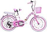 Kinderfahrrad Folding Mountain Bike 18' / 20' / 22' Speed Fahrrad Geeignet für Mädchen im Alter von 8-14 Bicicletas de carretera,Rosa,22 inches