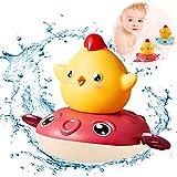 Sunshine smile Juguete de baño de Tortuga,Juguetes de baño para Nadar para niños,Juguetes de baño para bebés,Tortuga de baño para niños pequeños,Bebé Baño Natación Tortuga (Rojo)