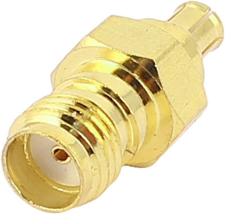 X-DREE Gold Plated SMA Female to trust Colorado Springs Mall Adapte Coaxial RF MCX Male Jack