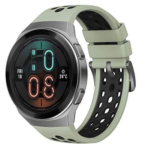 HUAWEI Watch GT 2e Active – AMOLED Smartwatch 1,39 Zoll Display, 2 Wochen Akkulaufzeit, GPS, Grün, 55025279, mintgrün, 46 mm