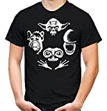 Legend Alien Rhapsody T-Shirt | Kult | Kult | Alf | Männer | Herren | Science | Alien | Fiction | ET | Film | Funshirt (L, Schwarz)