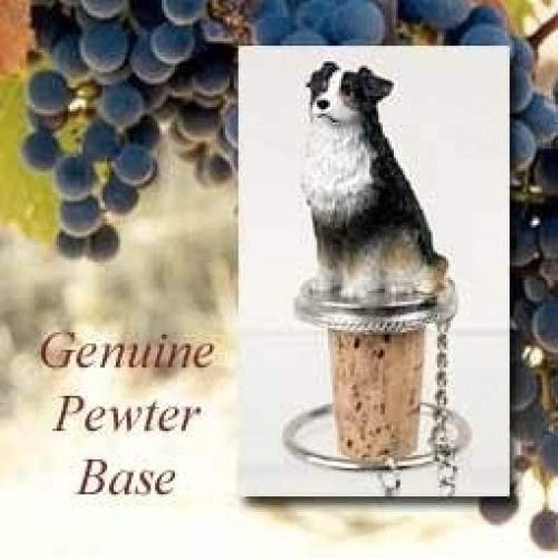 Australian Shepherd Tri Color Wine Bottle Stopper DTB99E