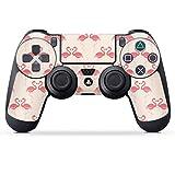 DeinDesign Skin kompatibel mit Sony Playstation 4 PS4 Controller Folie Sticker Flamingo pink Sommer