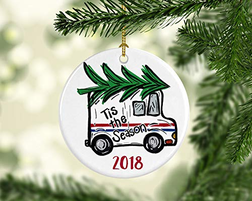 Toll2452 Mail Carrier Gift POST OFFICE Christmas Tree Ornament Personalized Customized Appreciation Porcelain Mailman Postman