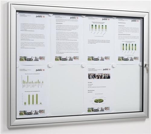 Softline Flügeltür Profi Schaukasten für den Innen- und Außenbereich , 930mm x 680mm x 30mm, 8x DIN A4