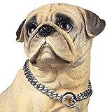 PROSTEEL Collar Resistente de Perro Cadena de Acero Inoxidable 15mm de Ancho Cadena de Seguridad, Plateado 41cm
