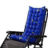 HANHAN Cojín para tumbona, de madera, para silla mecedora de jardín, portátil, grueso, de repuesto, para patio, cama acolchada, mate, funda para asiento de sofá para interior/exterior