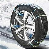 LHQ-HQ Cadena Universal de la Nieve del Invierno Antideslizante Cadena Antideslizante Cadena de Emergencia de la Bola de Nieve de Neumáticos for Automóviles SUV