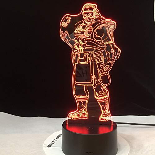 3D kleur veranderende nachtlampje met afstandsbediening tafellamp schommel ijshockey spel licht kinderen tafelloper huishouden zwart tafellamp schaduw lavendel