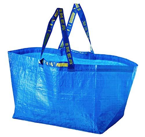 Ikea - 2 x Frakta blaue große Tasche – ideal zum Einkaufen, für Wäsche und Aufbewahrung