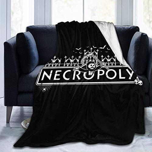 haoqianyanbaihuodian Necropoly Game of The Dead Monopoly - Manta de franela de forro polar, ligera, ultrasuave y cálida, apta para sofá