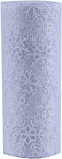 HAOWANG Snowflake Organza Gauze Element Table Runner Tulle Reel Line Craft Party Decoration White