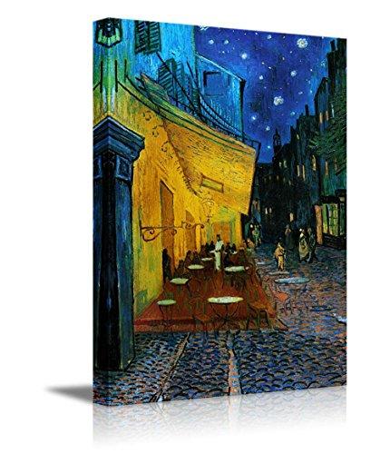 wall26 - Cafe Terrace at Night Vincent Van Gogh - Canvas Art Wall Art -24'x36'