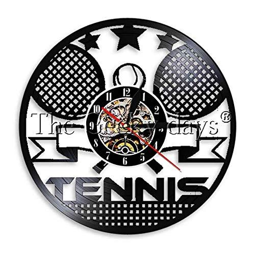 XZXMINGY Orologio in Vinile 30CM Tennis Time Orologio da Polso in Vinile Sport Sportsroom Decorazioni per la casa da Parete Art Time Clock Regalo per tennista
