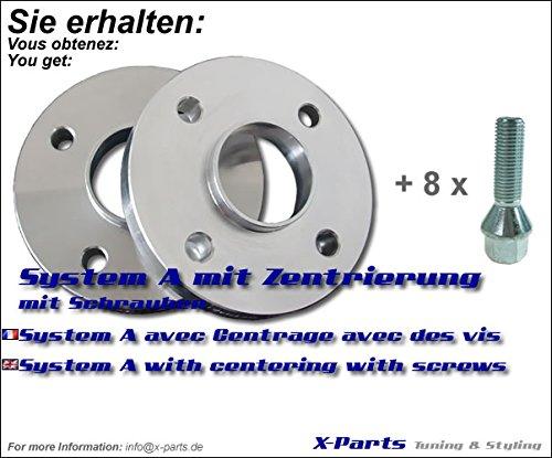 40mm Spurverbreiterung 4x100 NLB 57,1 mm 20mm pro Seite + Schrauben