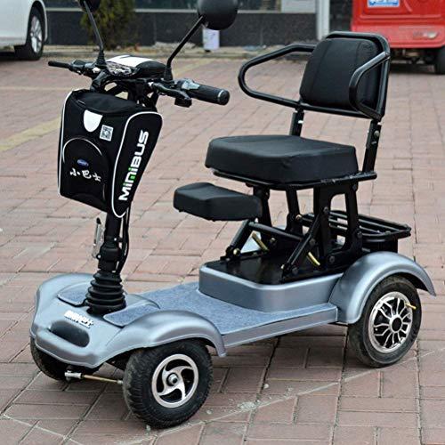 LLPDD Elektrische scooter, opvouwbaar, licht, 4 wielen, elektrische scooter, volwassenen en ouderen, vrije tijd, scooter, elektrische rolstoel, voor volwassenen en Old Man
