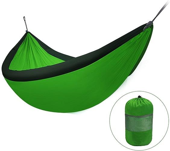 Weq Double hamac extérieur, Toile de Parachute Gonflable, portable pour éviter Le RenverseHommest, Vert, 240  173 cm