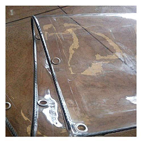 KAISIMYS Lona de Lona Impermeable Transparente Cubre la Hoja de Tierra Carpa Carpa Resistente al Viento Reforzada para Exteriores, Personalizada (Color: Transparente, Tamaño: 4x4m)