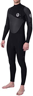 Rip Curl Flashbomb Heatseeker 4/3MM Zip Free Wetsuit Black with Lightweight Easy Stretch Thermal Flash Lining