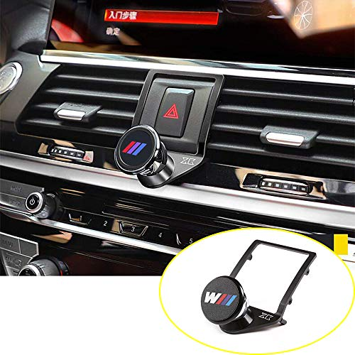 YIWANG 3 Colours Alumium Alloy Mobile Phone Holder Trim for BMW X3 G01 2018 2019,for BMW X4 G02 2018 2019 Car Accessories (Black)