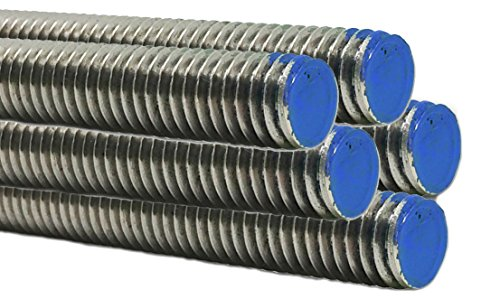 Type 18-8 Stainless Steel Fully Threaded Rod - Marine Bolt Supply (3/8-16 x 3FT (Bundle of 5))