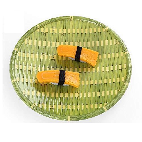 Placa de fruta de melamina engrosada, disco de plástico de porcelana de imitación de personalidad, nuez del restaurante, pan-(Verde 8 pulgada) 20.3 * 2.3cm