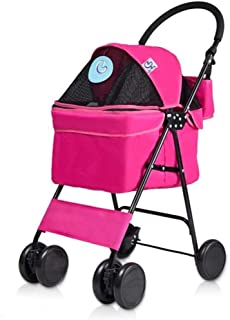 Hundbuggy buggy barnvagn husdjur-lekrum-promenadvagn hund barnvagn promenadhållare vikbar Cat Cage utomhus rese-buggy hund...