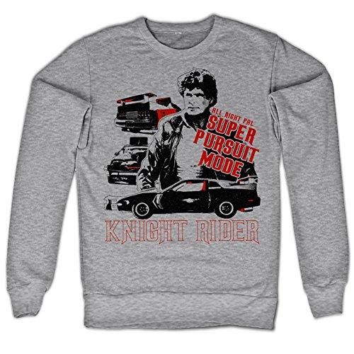 Men's Knight Rider Grey Sweatshirt, Adults XL
