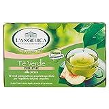 L'Angelica,Tè Verde Snellente Aromatizzato alla Pesca, Antiossidante e Attivatore del Metabolismo, Tè Drenante e Dimagrante, Senza Lattosio, Senza Glutine, Vegan, 74 g