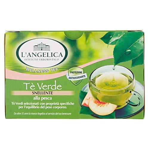 L'Angelica,Tè Verde Snellente Aromatizzato alla Pesca, Antiossidante e Attivatore del Metabolismo,...